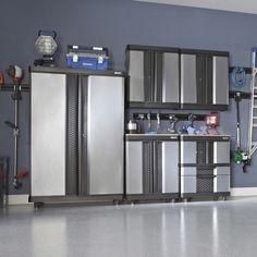 Kobalt 72 In H X 48 W 20 D Metal Cabinetsgarage Organizationgarage