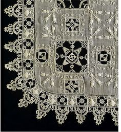 Italian Linen Handkerchief, circa 1600