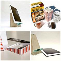 Soporte escultural para iPad | 22 Proyectos DIY que puedes hacer con cemento
