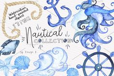 Nautical Watercolor Collection by Tanya Kart on @creativemarket