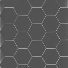 2 Unglazed Porcelain Hex Tile Black