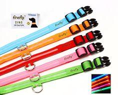 FIREFLY® Zing - Dog Safety Collar Flashing LED - ORANGE XL