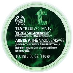 The Body Shop Tea Tree Face Mask 3.38 fl oz (100 ml) ($15) ❤ liked on Polyvore