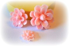 0415 Carnation Flower Trio Decoden Cabochon by MasterMolds on Etsy, $8.00