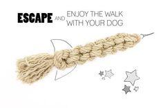 Hemp Rope Dog Toy *The Rocket* - Handmade Organic Dog Toy Intense Love, Tug Of War, Natural Baby, Big Dogs, Natural Materials, Dog Owners, Dog Toys, Hemp, Chihuahua