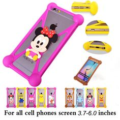 2017 Hot Fashion Luxury Universal Cartoon Silicone Phone Case For Prestigio Wize L3 PSP3403 DUO Cover ,Stretchable ,21 Styles