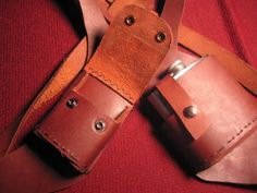 Vice Holster cigarettes and flask  ready to by fourChamberForge, $145.00
