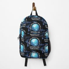 Round Earth, Fashion Backpack, Clutches, Finding Yourself, Backpacks, Humor, Printed, Awesome, Stuff To Buy