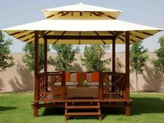 Phenomenal 9 Incredible Gazebo Design Ideas For Comfortable Backyard Building a gazebo in your home is the right choice if you want to utilize the remaining land or beautify your home page. Gazebo or what we commonly ca. Backyard Pavilion, Backyard Garden Landscape, Backyard Gazebo, Small Backyard Gardens, Large Backyard, Small Patio, Garden Pallet, Fence Garden, Terrace Garden
