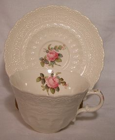 Spode China Billingsley Rose 2 8867 Pattern Cup Only Pink Green Blue Mark | eBay