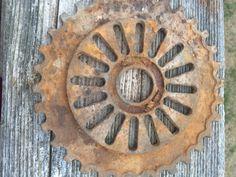 Rusty gear part by rustandstuffreloved on Etsy https://www.etsy.com/listing/498820264/rusty-gear-part