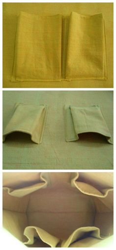 Step by step tutorial for how to make roomy 3D pockets for the inside of your bags. I'll never make a flat pocket again! #diyhandbag