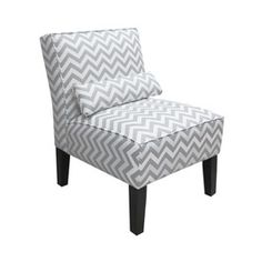 Grey ZigZag Armless Slipper Chair - Target -$299