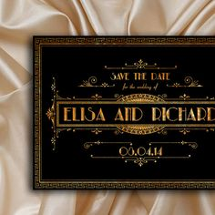 The great Gatsby save the date card #gatsby #artdeco #wedding