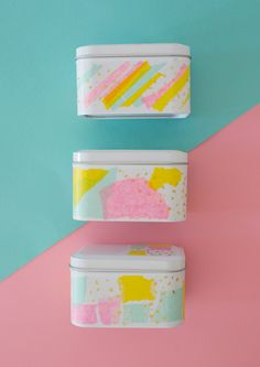 Upgrade a set of plain tins and stuff them with your mom's favorite tea or beauty products! (via Oh Joy!)