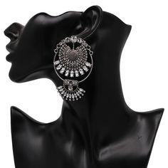 2018 Vintage Boho Style Beautiful Crystal Chandelier Big Earrings For – Delite Shopping #womensfashion #dropdangle #dropearrings #newarrivals