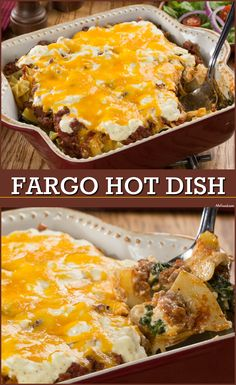 This ground beef casserole is the ultimate comfort food. It features layers of cheese, noodles, and more! Recepies With Ground Beef, Healthy Ground Beef, Ground Beef Recipes For Dinner, Slow Cooker Ground Beef, Ground Beef Casserole, Hamburger Casserole, Pasta Dishes, Food Dishes, Main Dishes