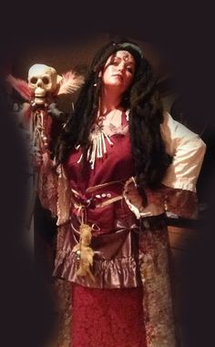 voodoo queen halloween costume | - Voodoo Queen Marie-Evella Celestine by artist Jaime Haney  Come read the rest of the short story with lots more photos on my site.