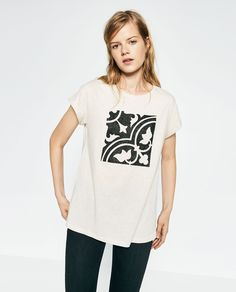 CENTRAL PRINT T-SHIRT-View all-WOMAN-NEW IN   ZARA United States