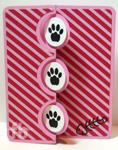 Credit: StampOwl's Studio: Supplies: Sizzix Framelits Die Set - Card, Triple Circle Flip-its Flip Cards, Fancy Fold Cards, Folded Cards, Dog Cards Handmade, Pet Sympathy Cards, Shaped Cards, Cat Cards, Animal Cards, Cards For Friends