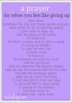 Giving up is never an option, but prayer- that's always an option. Read and study this. The power of prayer is stronger than you may know or think. Keep the faith. God is good all the time. Power Of Prayer, My Prayer, Faith Prayer, Strength Prayer, Prayer Wall, Prayer For Broken Heart, Exam Prayer, Give Me Strength Quotes, Night Prayer