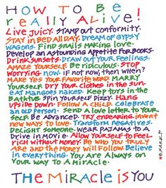 How to Be Really Alive  ~SARK