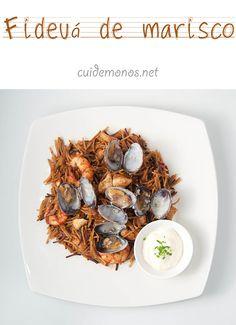 Fideuá de marisco #recetas #pasta #fideua #marisco http://www.cuidemonos.net/2014/04/fideua-de-marisco.html