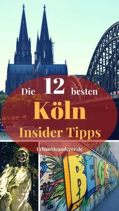 Cologne is one of the most exciting German cities. From its most beautiful side, however, the Rhine metropolis is only off the beaten track. And that& exactly why I present you in this article, the 12 best Cologne insider tips or insider tips! Oh The Places You'll Go, Places To Travel, Travel Destinations, Hamburg Guide, Cologne Germany, Travel Companies, Thing 1 Thing 2, Germany Travel, Spring Break