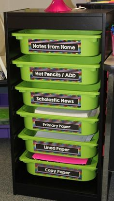 IKEA system - perfect for the classroom - what a great organization system for the elementary classroom {or make a few tweaks and use it for homeschool too!}