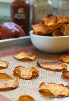Baked BBQ Sweet Potato Chips