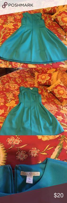 Dana Buckman size 10 dress Beautiful dark teal Dana Buckman Above the knee fitted dress! Dana Buchman Dresses Midi