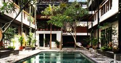 Roam has converted a contemporary boutique hotel in Bali into a coliving and coworking space at the artistic and cultural heart of the island. Coworking Space, Ubud, Park, Island, Mansions, Architecture, World, House Styles, City
