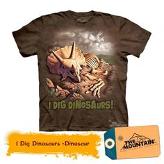 Tricouri The Mountain – Tricou I Dig Dinosaurs Dope Shirt, Cool T Shirts, Mens Tops, Mountain, Kids, Products, Fashion, Young Children, Moda