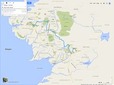 Google maps from the shire to Mordor