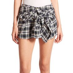 Faith Connexion Tile Lurex Plaid Flannel Shirt Skirt ($690) ❤ liked on Polyvore featuring skirts, apparel & accessories, navy, tartan plaid skirt, long skirts, plaid wrap skirt, navy blue skirt and wrap skirt
