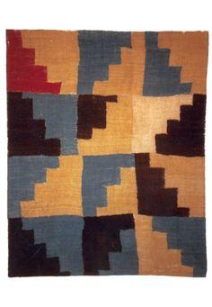Patchwork - Terraced Triangles , Nazca / Huari, ca 800 AD  canvas weave