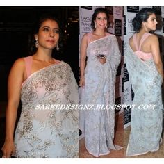 Indian Designer Bollywood Replica Kajol Devgan Saree Sari Blouse 221
