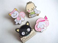 SANRIO VINTAGE RARE Character Pin badge PINZ Chococat etc LOT