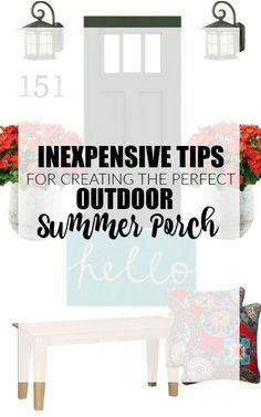 Freshen your porch for summer with these simple and inexpensive tips! - http://littlehouseoffour.com