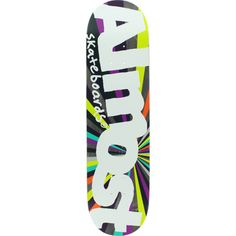 Almost Resin 7 Off Center Color Wheel Purple/Lime Deck - now at Warehouse Skateboards! #skateboards #whskate