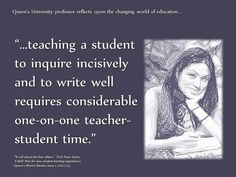 Educational Postcard about teaching a student to write well.
