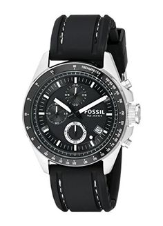 Great gift idea Fossil Men's CH2573 Decker Stainless Steel Chronograph Watch With Black Silicon Band