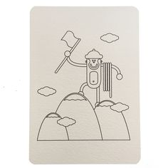 Carte postale à colorier randonneur, collection Monde Wistiworld | Baby Prestige