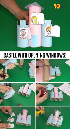 Castle With Opening Windows – Paper Roll Craft‏ #paperrollcrafts