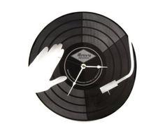 Large Wall Clock Laser Cut Acrylic Black Clock by WoodEnvyDotCom