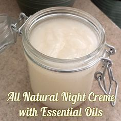 Here's my new secret weapon - using essential oils for skincare to make DIY all natural night crème.