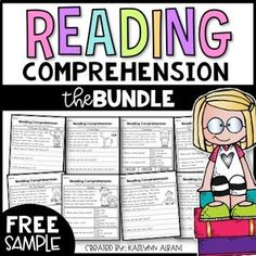 FREE - Reading Comprehension Passages by Kaitlynn Albani First Grade Reading Comprehension, Reading Comprehension Worksheets, Reading Fluency, Reading Passages, Reading Strategies, Reading Activities, Guided Reading, Teaching Reading, Free Reading