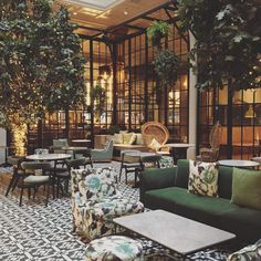 Winter Garden in the Refuge bar at The Principal Hotel Manchester | It's a perfect spot for afternoon tea & just look at the dreamy interior!
