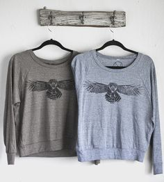 Spotted Owl Raglan Long Sleeve T-Shirt by nothing-obvious on Scoutmob
