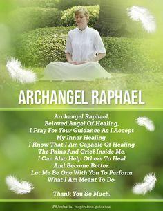 Archangel Raphael Prayer, Archangel Haniel, Archangel Prayers, Archangel Michael, Inspirational Good Morning Messages, Inspirational Prayers, Spiritual Prayers, Prayers For Healing, Light Qoutes